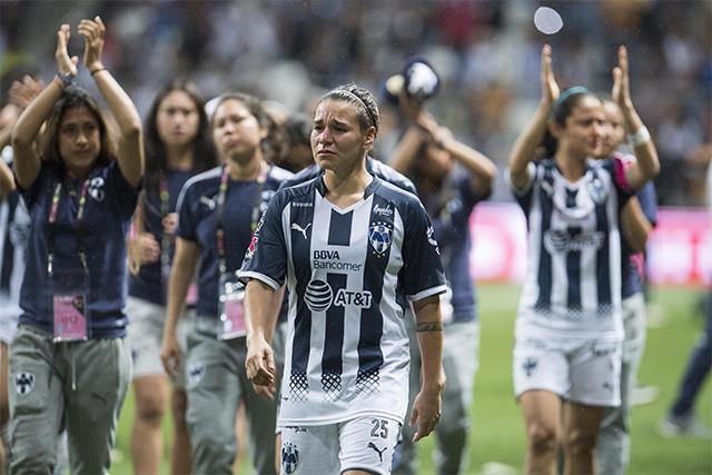 Jugadoras de Monterrey después de la final