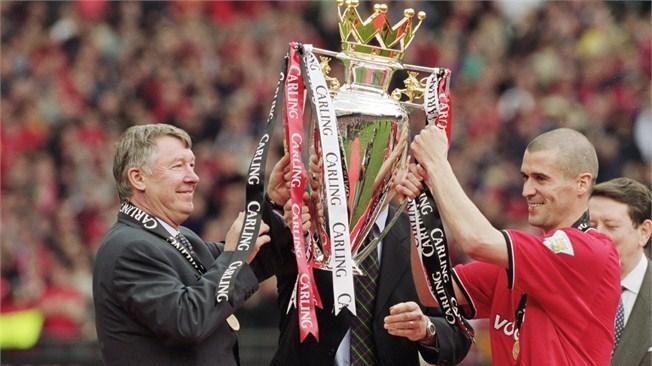 Ferguson y Cantona con una Premier