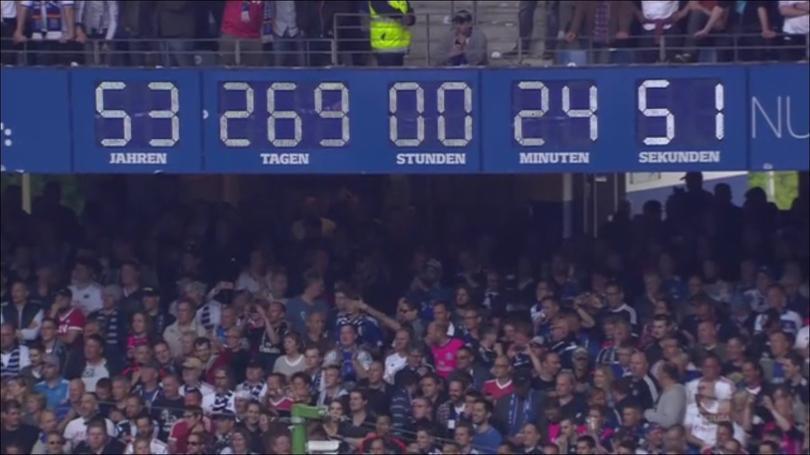 El reloj en el estadio de Hamburgo