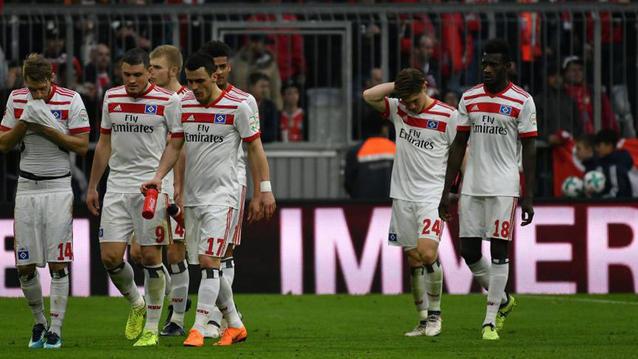 Jugadores del Hamburgo