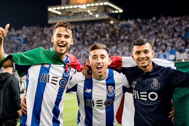 Diego Reyes, Héctor Herrera y Jesús Corona