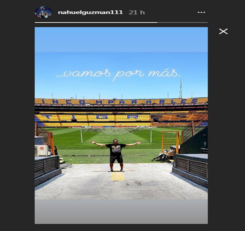 Historia en el Instagram de Nahuel Guzmán