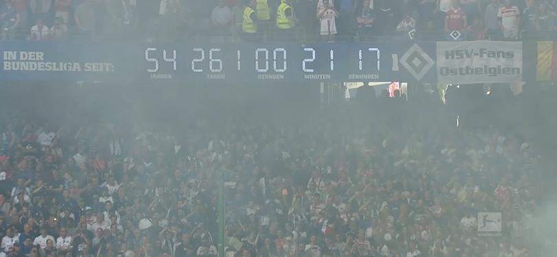 Últimos segundos del Hamburgo en primera división.