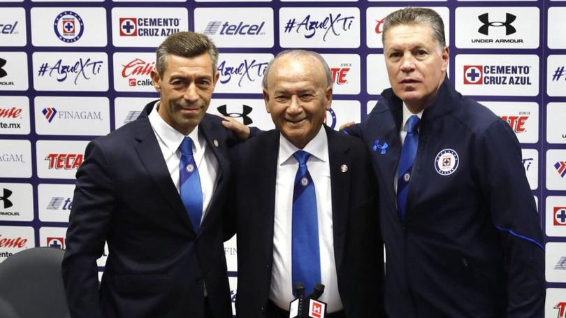 Pedro Caixinha, Billy Alvarez y Ricardo Pelaez