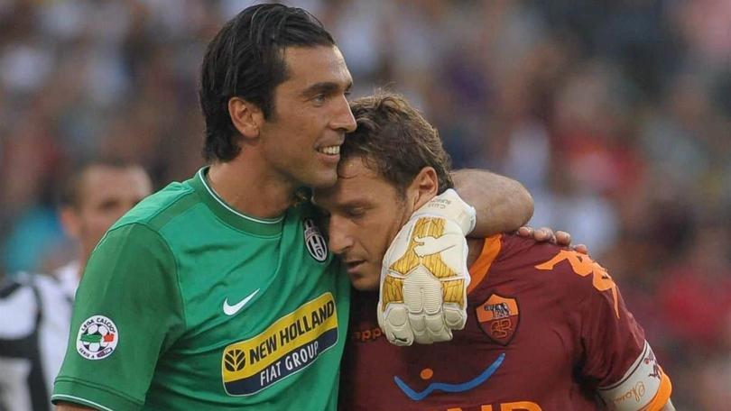 Totti y Buffon