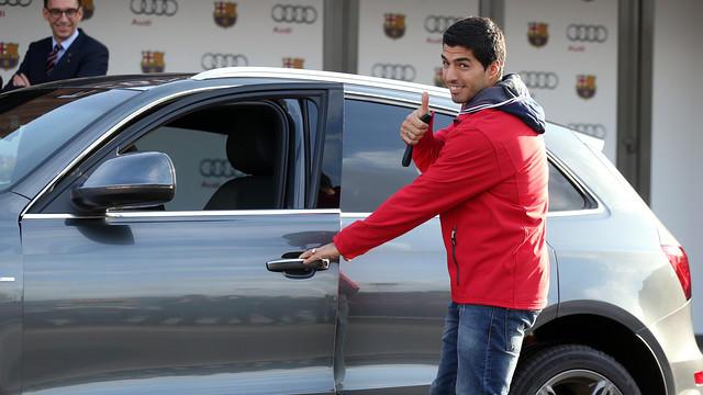 Suarez con su Audi