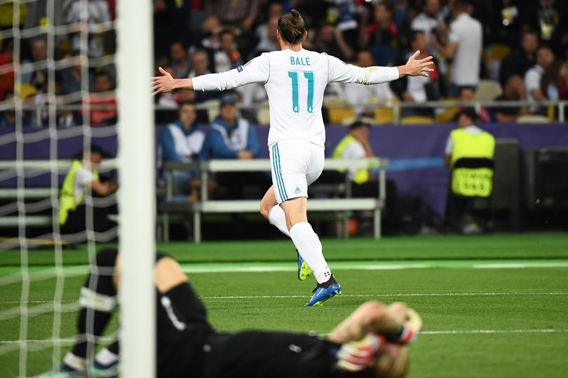 Bale tras el 3-1 que cerraba el triunfo del Madrid