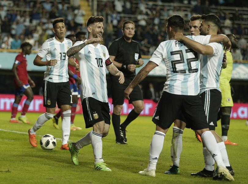Messi en la victoria de Argentina