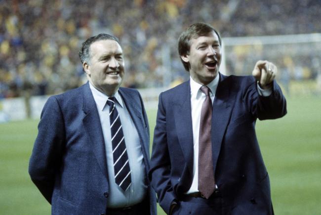 Jock Stein y Alex Ferguson previo al Mundial de México 1986.