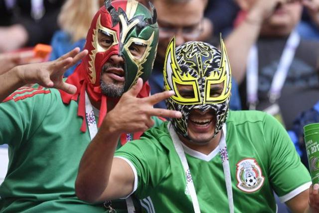 Enmascarados en partido de México