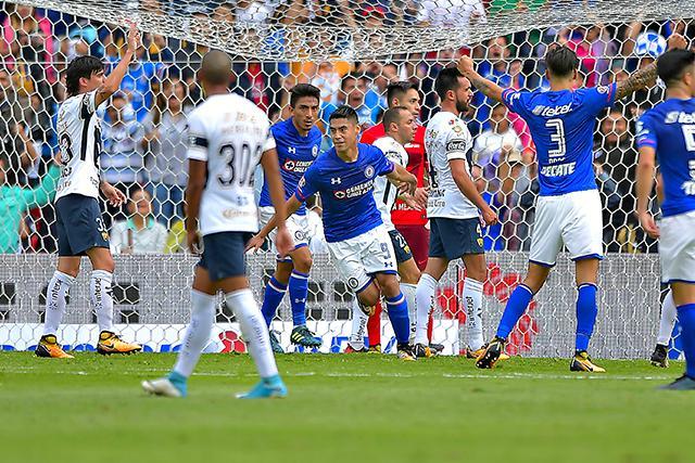 Gol de Cruz Azul a Pumas