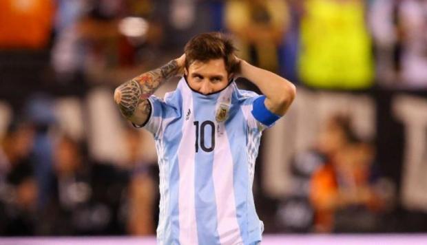 Messi con la albiceleste