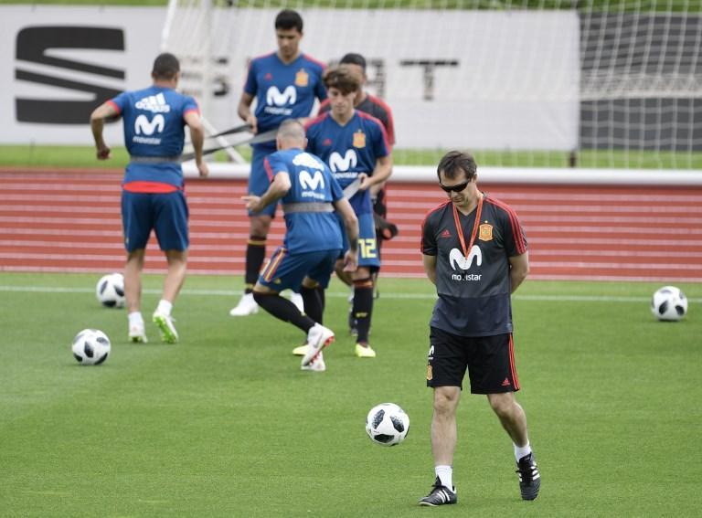Lopetegui con la Selección española.
