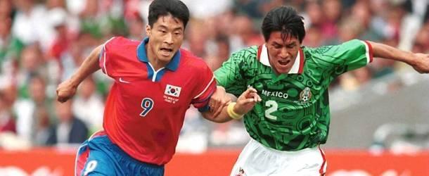 México contra Corea del Sur en el mundial de 1988.