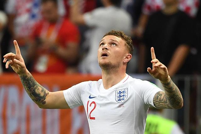 Trippier celebra su gol contra Croacia