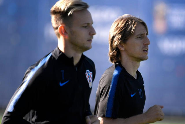 Ivan Rakitic y Luka Modric