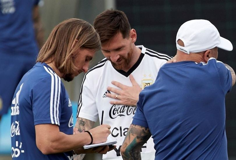 Beccacece, Messi y Sampaoli