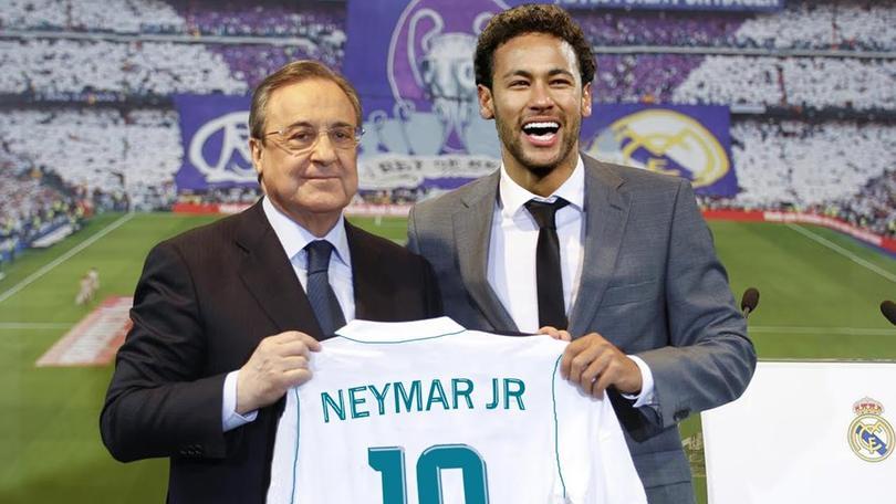 Neymar y Florentino Pérez