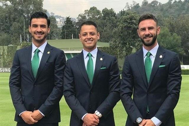 Oswaldo Alanís, Javier Hernández y Miguel Layún