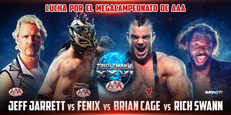 El cartel de la lucha por el mega campeonato
