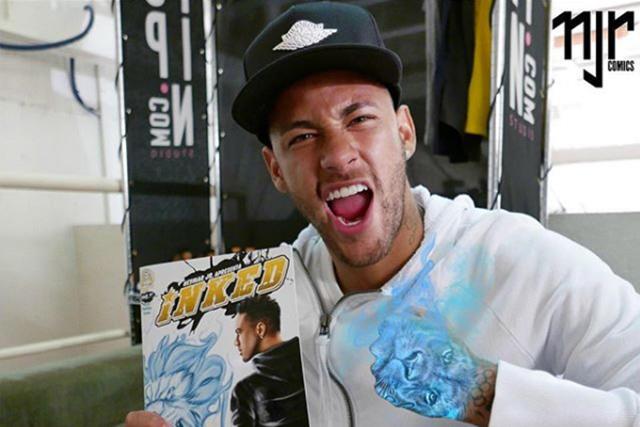 Neymar con su cómic
