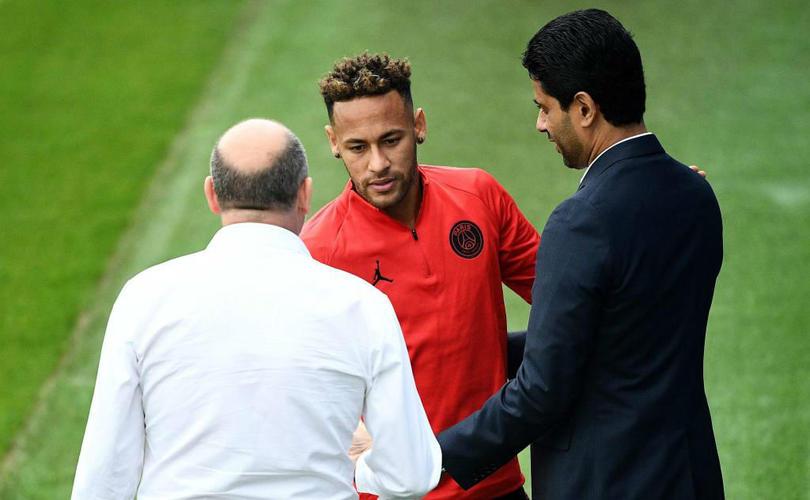 Neymar y Al Khelaifi.