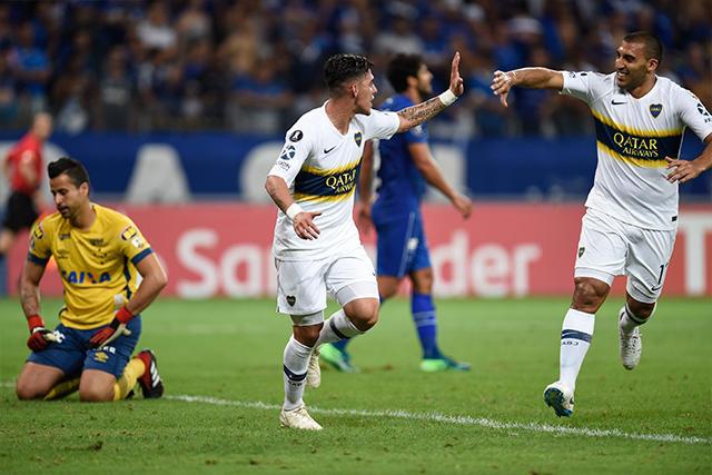 Pavón celebra su gol contra Cruzeiro