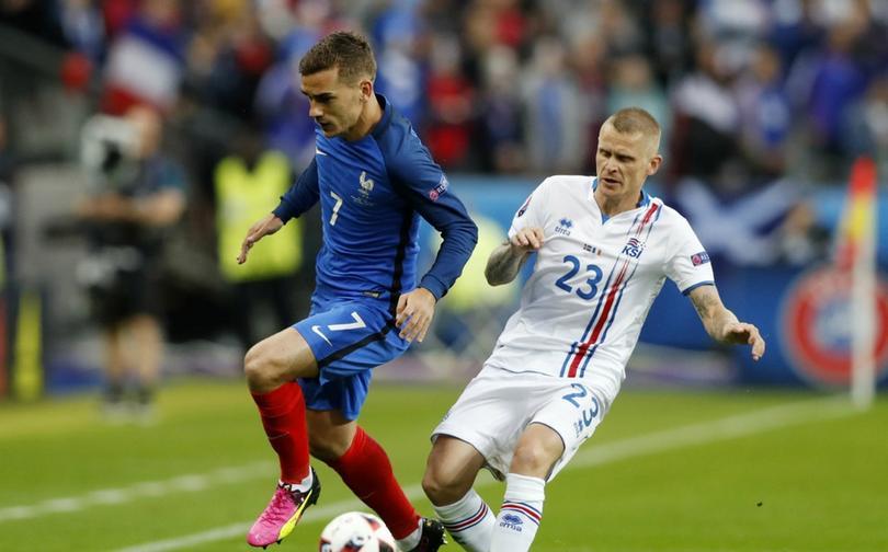 Francia contra Islandia en la Eurocopa