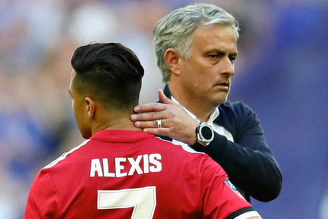Alexis Sánchez y Mourinho
