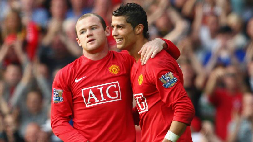 Rooney y Ronaldo