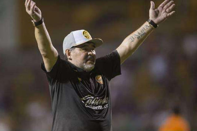 Diego Maradona con Dorados