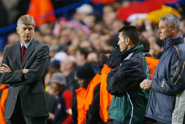 Arsène Wenger y Claudio Ranieri