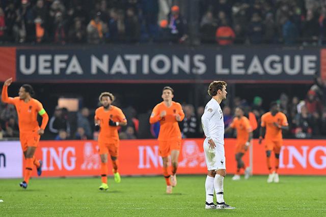 Griezmann durante el festejo de Holanda