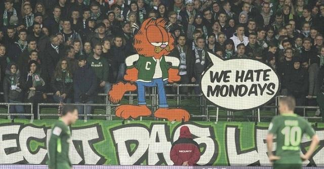 """Protesta de fans del Werder Bremen por juegos en Lunes """"We hate Mondays"""""""