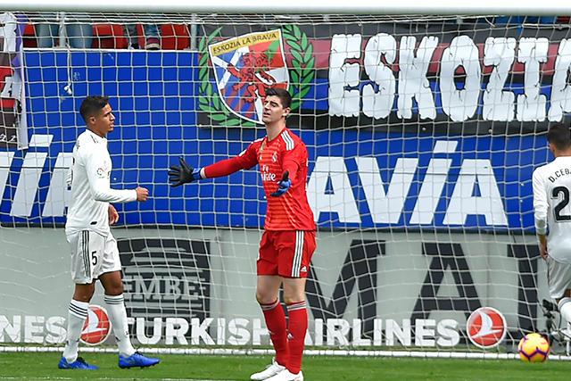 Courtois después del gol del Eibar