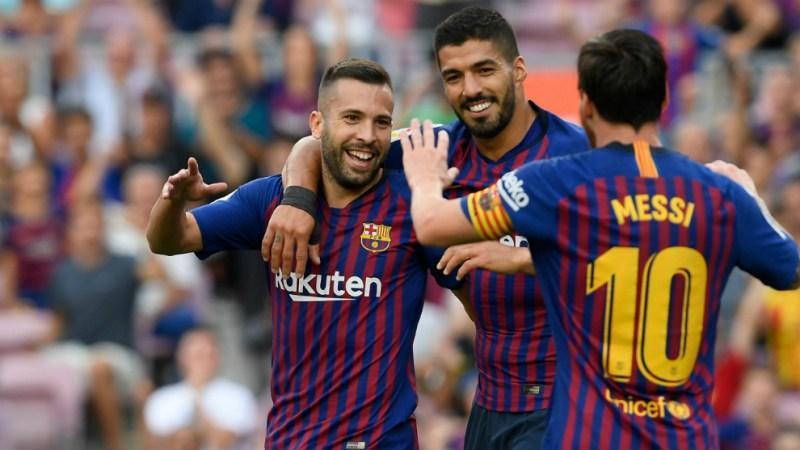 Suárez, Messi y Jordi Alba
