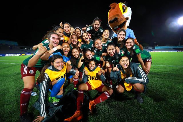 Mexicanas celebran su pase a la final del Mundial Sub-17