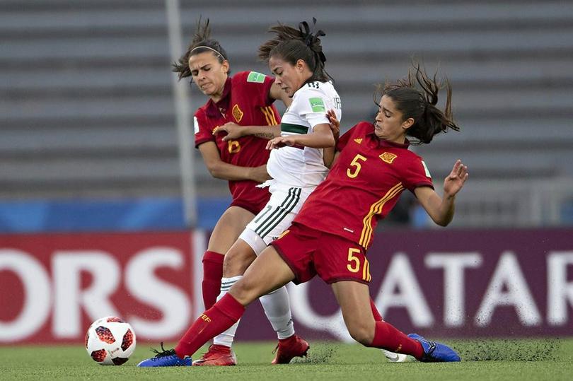España femenil Sub-17 vs México femenil Sub-17