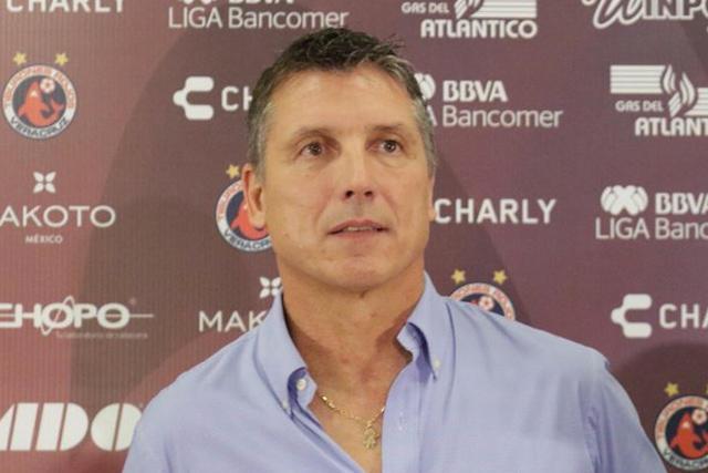 Robert Dante Siboldi en su presentación con Veracruz