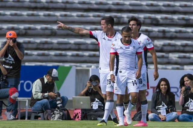 Leonardo Ramos celebra un gol