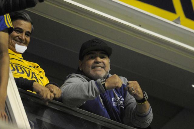 Maradona en la Bombonera