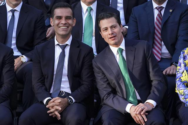 Rafael Márquez y Enrique Peña Nieto