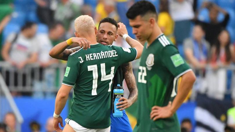 Neymar, Javier Hernández e Hirving Lozano