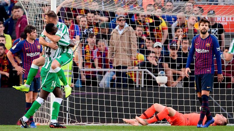 Gol de Betis a Barcelona
