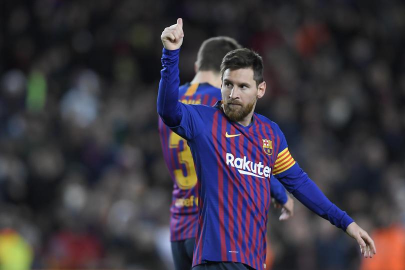 Messi en su gol 400