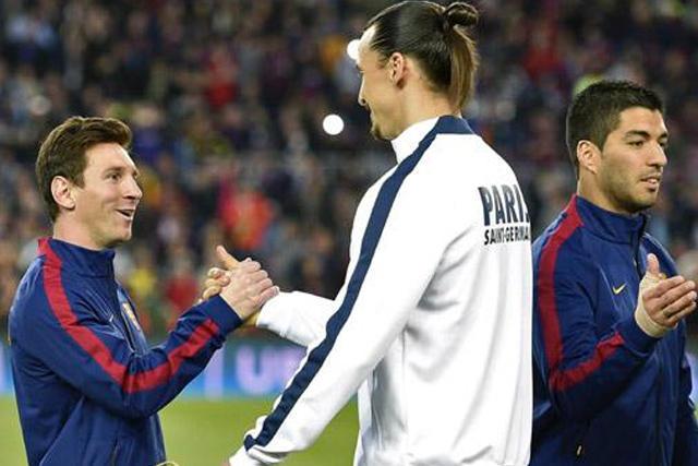 Lionel Messi y Zlatan Ibrahimovic