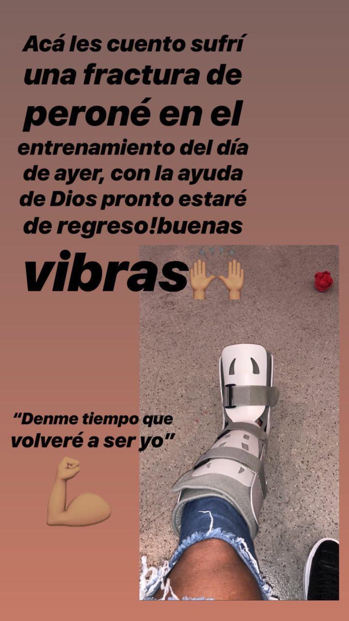 Pierna fracturada de Alexis Canelo