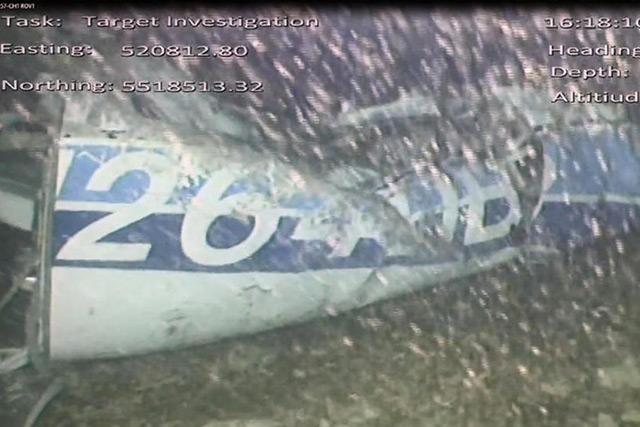 Captura del video del hallazgo del avión de Emiliano Sala