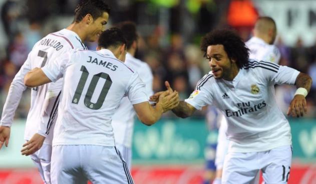 Cristiano Ronaldo, James Rodríguez y Marcelo