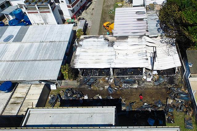 Centro de entrenamiento de Flamengo tras el incendio